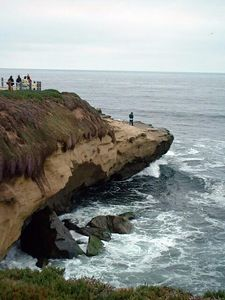 sea cliff -- La Jolla, 28 Jun 2003