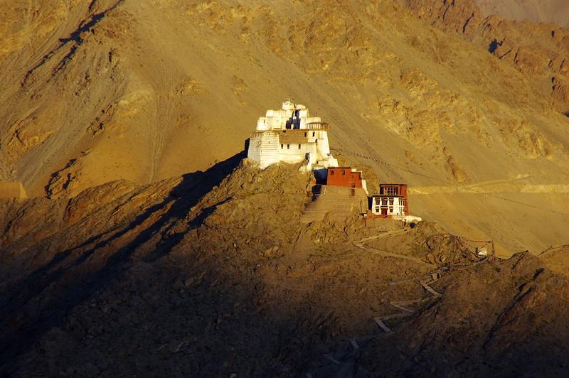 Sunset at Namgyal Tsemo Gompa in Leh