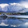 Il gruppo del Mangart con il secondo Lago di Fusine - Alpi Giulie <br /> <br /> Foto n° 250214-859603