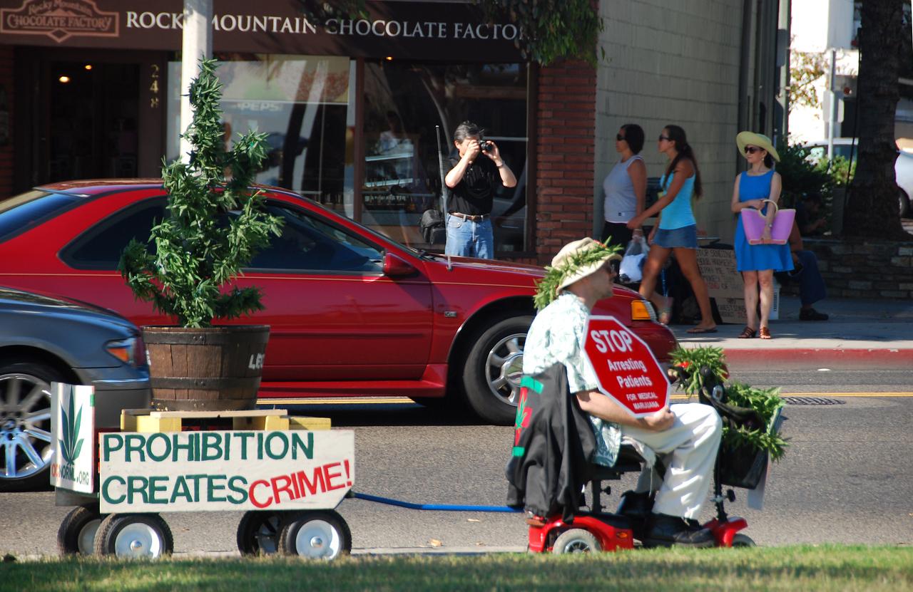 Marijuana protest