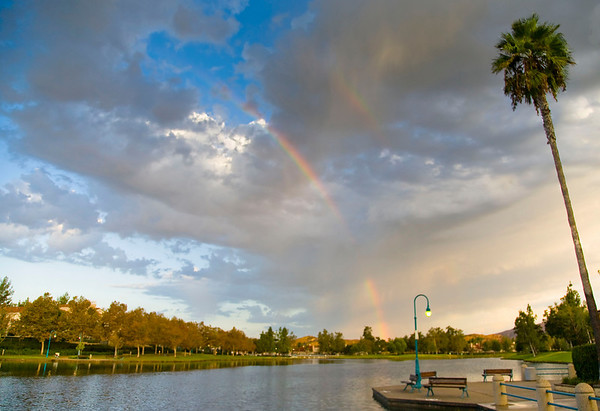 Rainbow at Rancho Santa Margarita Lake