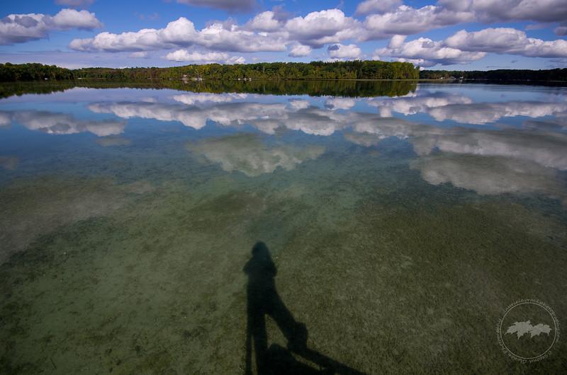 Self portrait overlooking Lake Ann.