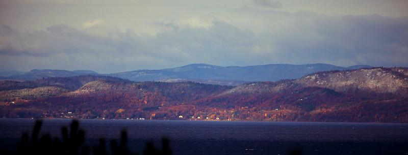 Adirondack Mountains, NY, from Burlingtion, VT, looking across Lake Champlain.
