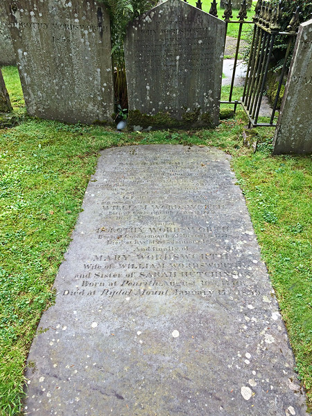 Wordswoth's grave in Grasmere
