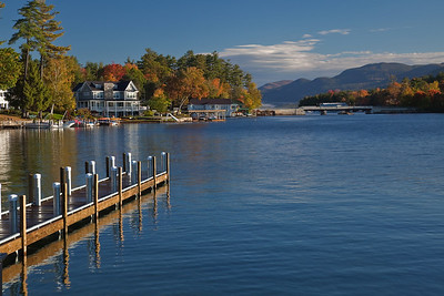 Sagamore Hotel from Bolton Landing park, Lake George, NY.