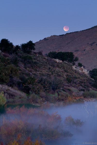 Moon Eclipse at Lake Hodges