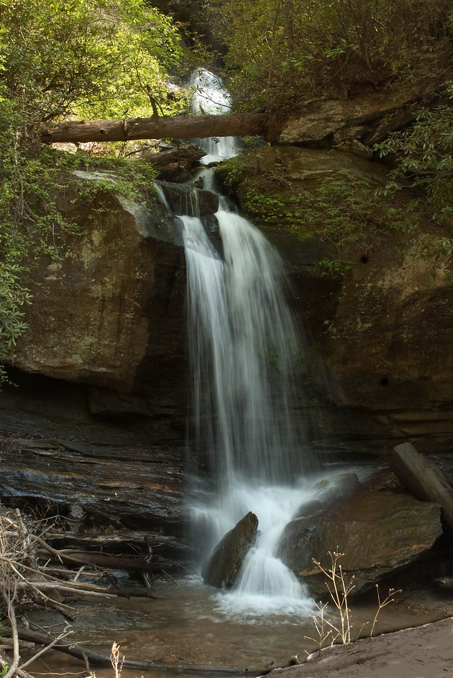 Wright Creek Falls on Lake Jocassee, Oconee County, SC