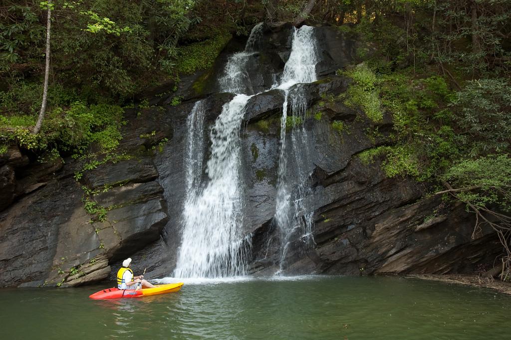 Mill Creek Falls on Lake Jocassee, Oconee County, SC