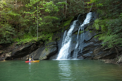 Mill Creek Falls on Lake Jocassee, Oconee County, SC