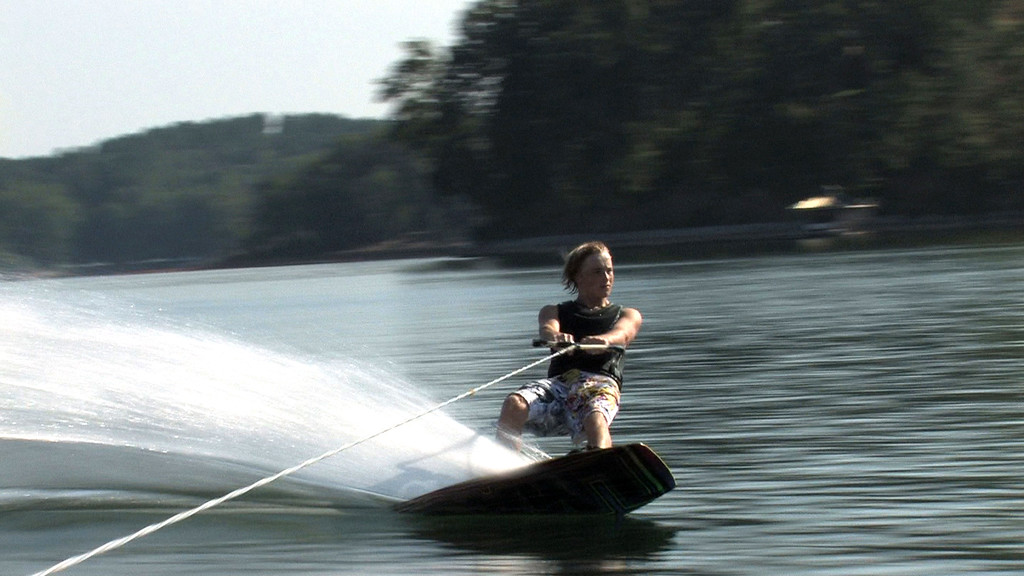 Wakeboarding on Lake Keowee. <br /> Frame from an HD video