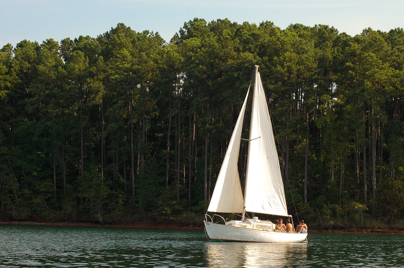 Sailboat on Lake Keowee