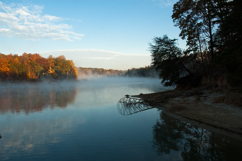 Fall in Oconee County SC on Lake Keowee
