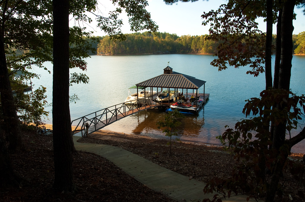Boat dock on Lake Keowee