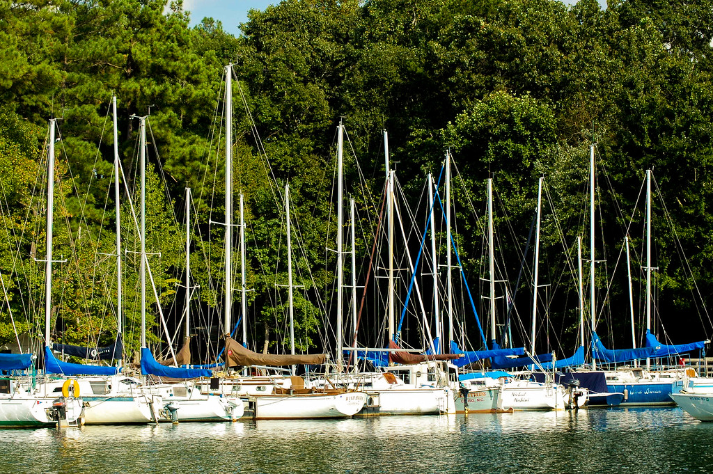 Sailboat marina on Lake Keowee