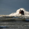 Surf's up! Grand Haven Lighthouse during storm event, October 27, 2010. Lake Michigan @ the Grand River channel.