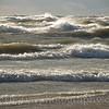 Huge waves on Lake Michigan, Grand Haven state park, Michigan. October 27, 2010.