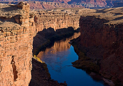 The Colorado River in Marble Canyon about 12 miles below Glen Canyon Dam.