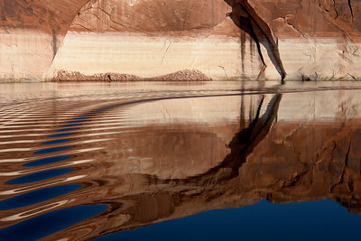 _DSC9835    Water like glass, bright blue sky, spectacular cliffs, and reflections are the epitome of Lake Powell