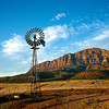 Windmill and Mountain