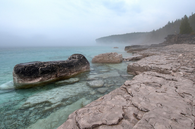 Foggy Day at Storm Haven<br /> Bruce Peninsula National Park
