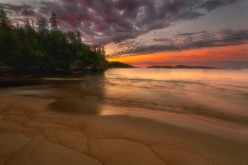 Warp Bay Sunrise, Lake Superior