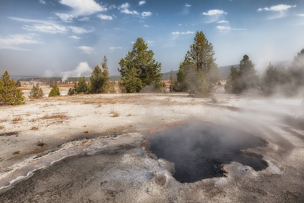 One of the Geyser pools on Firehole Lake Drive