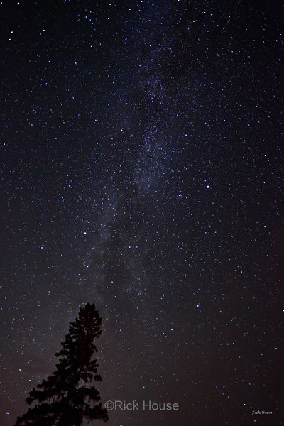 The Milky Way from Pincushion Mountain outside Grand Marais