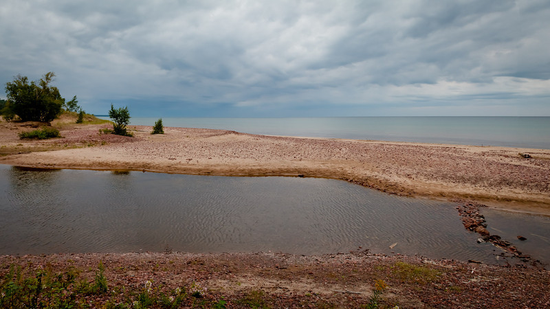 Looking out over the big lake on a mid August day in Eagle River MI.