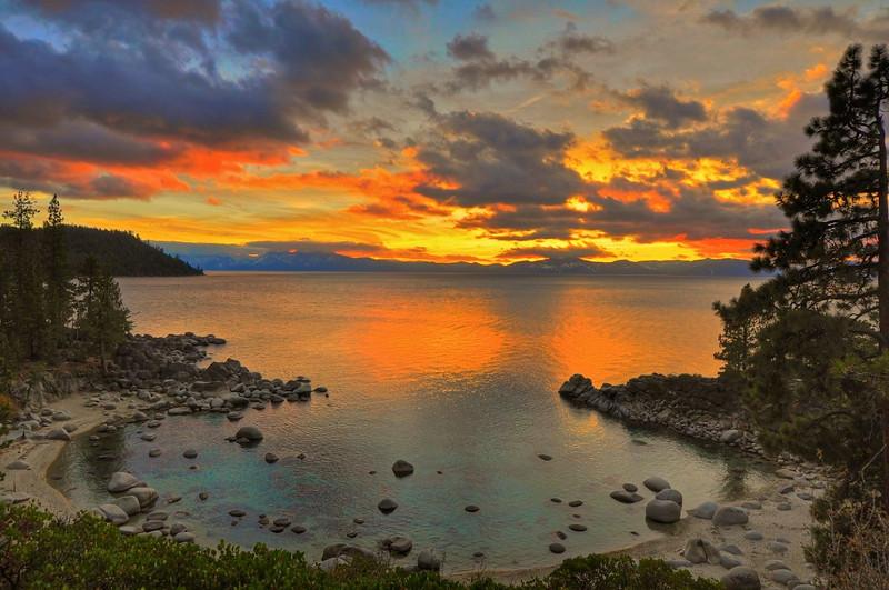 Sunset Secret Cove Beach