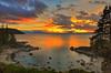 Sunset, Secret Cove Beach. Lake Tahoe (HDR).