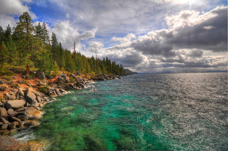 Near Chimney Beach, Lake Tahoe