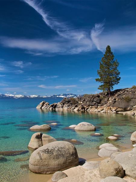 Secret Harbor Cove, East Shore, Lake Tahoe, NV.