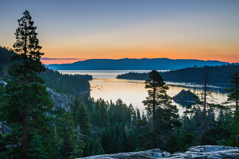 """Sunrise over Lake Tahoe"" Emerald Bay State Park, Lake Tahoe, California"