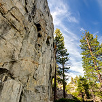 """90 Foot Wall"" Lake Tahoe Climbing at its best!   In the Desolation Wilderness on the way to Eagle Falls Lake, this awesome climbing spot is nestled in the trees. Lots of routes and accessible from the top.  A nice quick hike from Emerald Bay and the Eagle Falls."