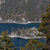 "There is a beautiful island in the middle of Emerald Bay.  On the east end is a Swedish-style castle called ""Vikingsholm."""