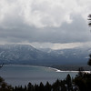 Looking east toward the south end of Lake Tahoe.  It was snowing!