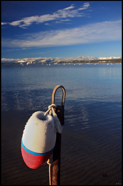 Ice on Floating, Kings Beach Harbor, Winter in Lake Tahoe