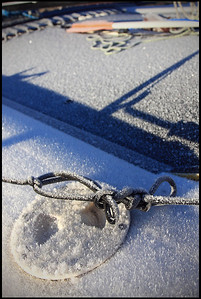 Frozen Knot on Boat, Kings Beach, Winter in Lake Tahoe