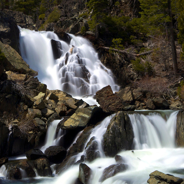 Upper Glen Alpine Falls, Lake Tahoe, CA.