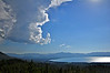 South Lake Tahoe, from the Tahoe Rim Trail.