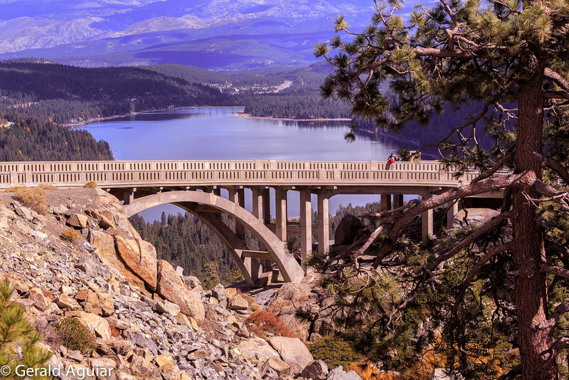 Bridge over looking Donner Lake.