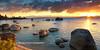 Whale Beach Summer Sunset 24x12