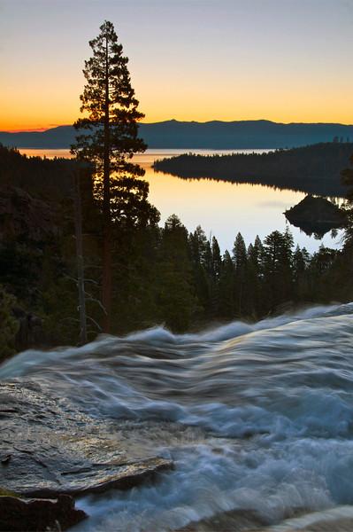 Sunrise, Eagle Falls, Emerald Bay, Lake Tahoe, CA.