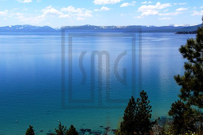 mountains, snow, water, lake, lake tahoe, trees, nevada, clouds