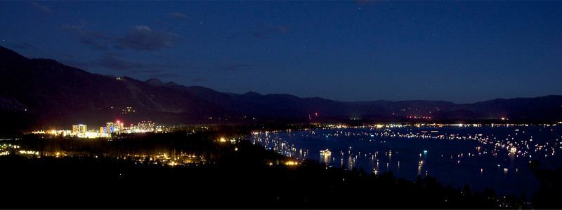 Casinos, Stateline, NV, Lake Tahoe Fireworks 2012
