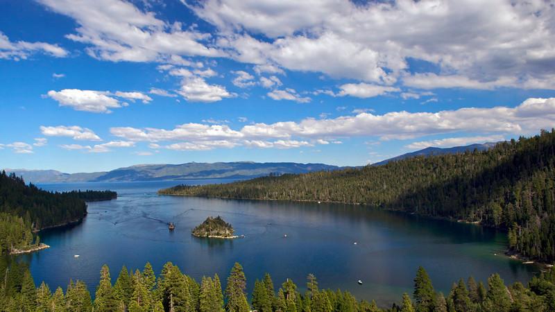Emerald Bay, Fannette Island, Lake Tahoe, CA.