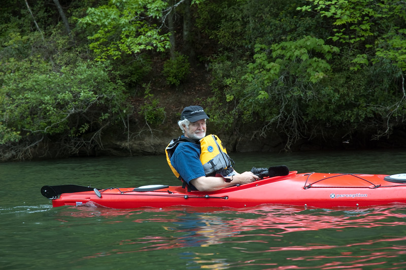 Kayaking on Lake Tougalo