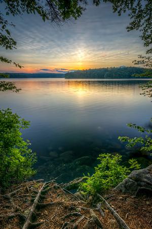 Summer Solstice Sunset - Lake Whitehall - Tom Sloan