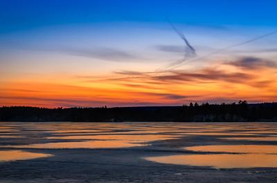 Lake Whitehall - Sunset Puddles of Gold