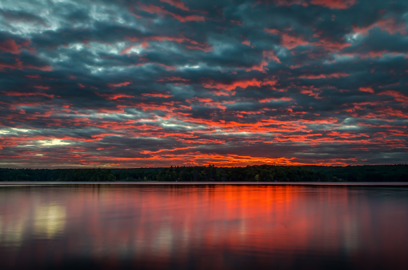 Red Sky Sunset - Lake Whitehall